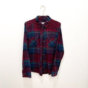 ABERCROMBIE AND FITCH PLAID BUTTON DOWN SHIRT SIZE